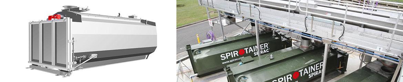 SPIROTAINER® Lagerungs- und Strassentransport