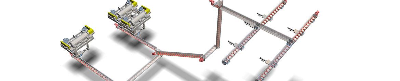 Shaftless Spiral Conveyors arrangements