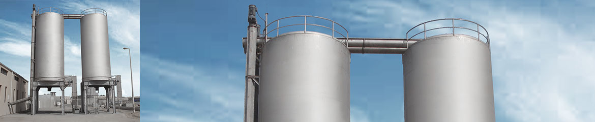 Stainless Steel Silos with Sliding Frame Outloading