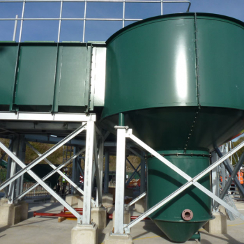 Inlet Works, Moving fine Screens, Screenings and Grit equipment installation