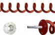 Wellenlose Spiralenförderer, Getriebehalterug, Steckachse
