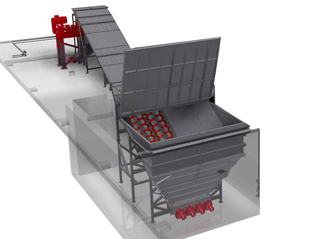 Live-Bottom Truck Receival Bunker