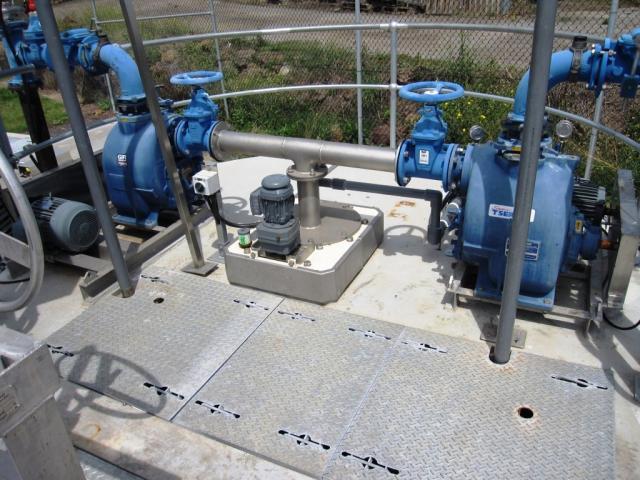 Grit washer pump